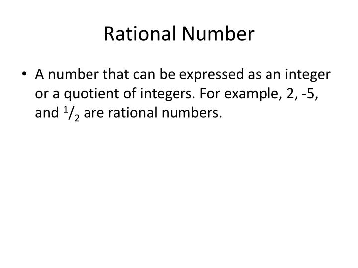 Rational Number