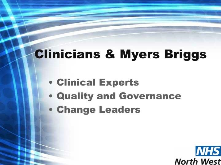 Clinicians & Myers Briggs