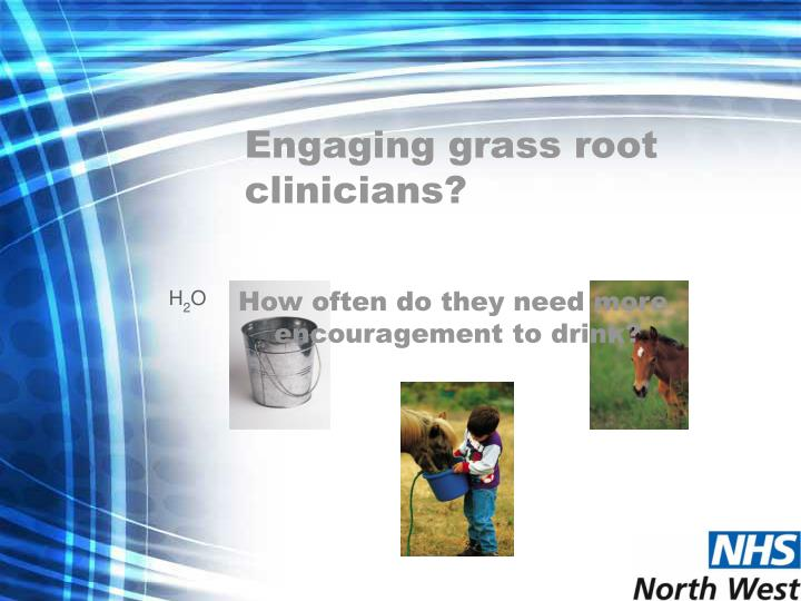 Engaging grass root clinicians?