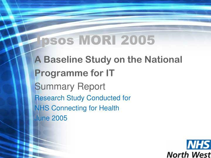 Ipsos mori 2005
