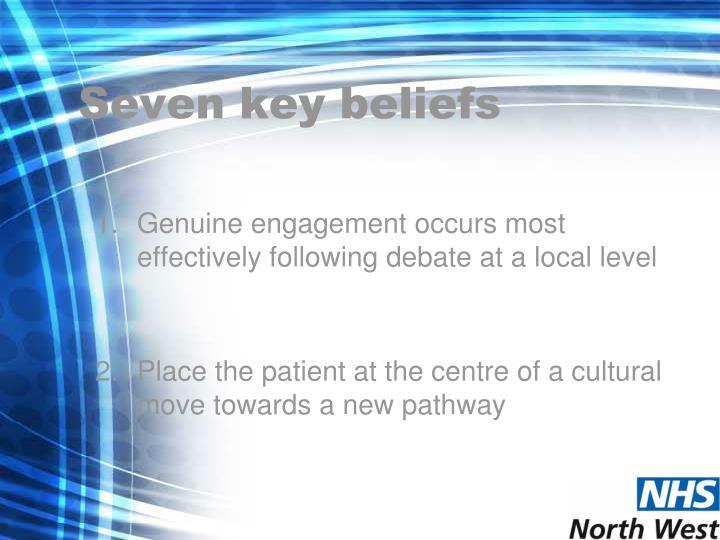 Seven key beliefs