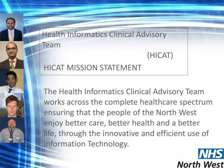 Health Informatics Clinical Advisory Team