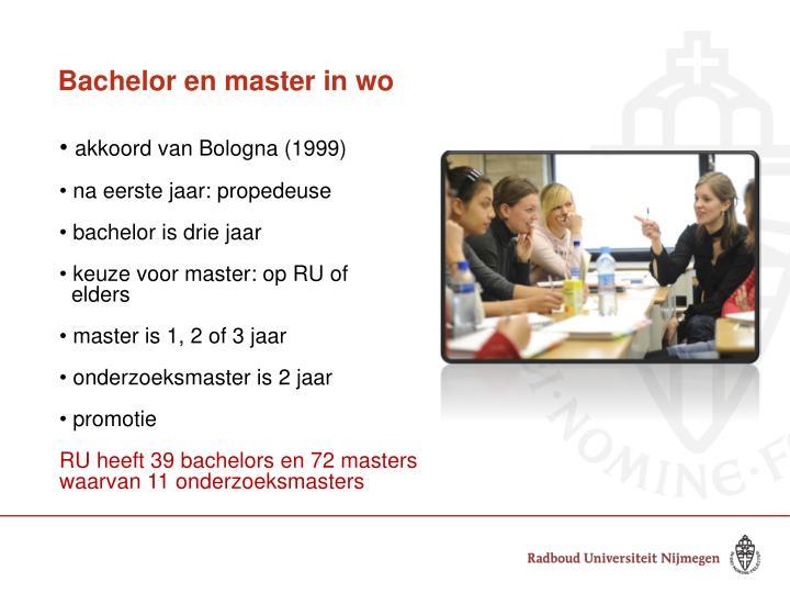 Bachelor en master in