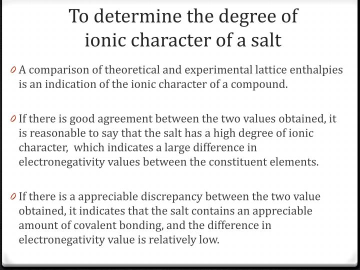 To determine the degree of