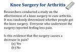 knee surgery for arthritis