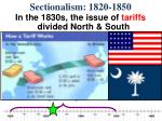 sectionalism 1820 18501