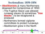 sectionalism 1850 1856