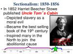 sectionalism 1850 18561