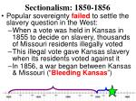 sectionalism 1850 18564
