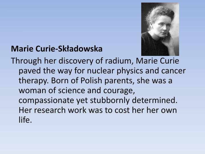 Marie Curie-