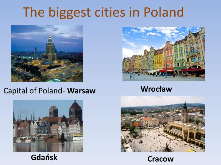 The biggest cities in poland