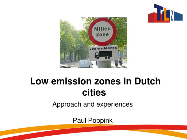 low emission zones in dutch cities n.