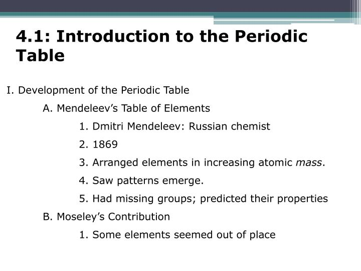 Ppt Chapter 4 The Periodic Table Powerpoint Presentation Id2440162