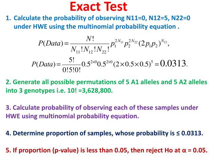 Exact Test
