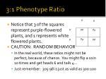 3 1 phenotype ratio