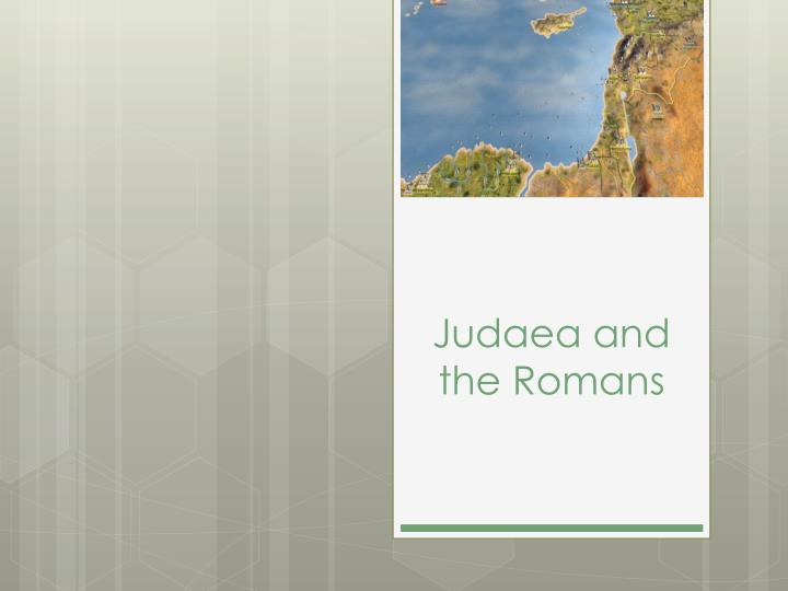 judaea and the romans n.