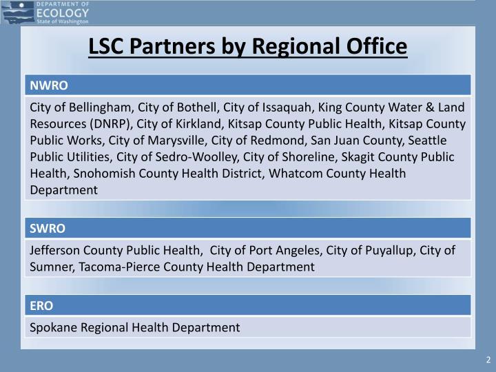 Lsc partners by regional office
