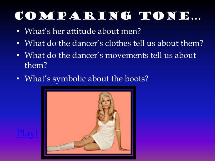 Comparing tone…