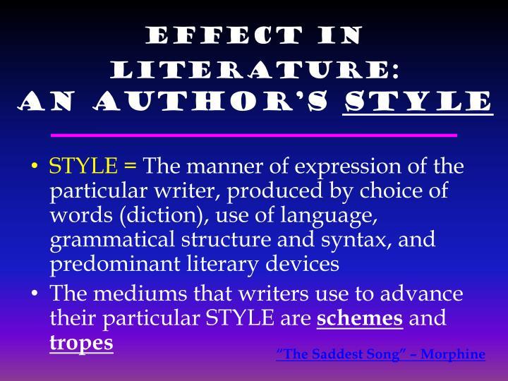 Effect in Literature: