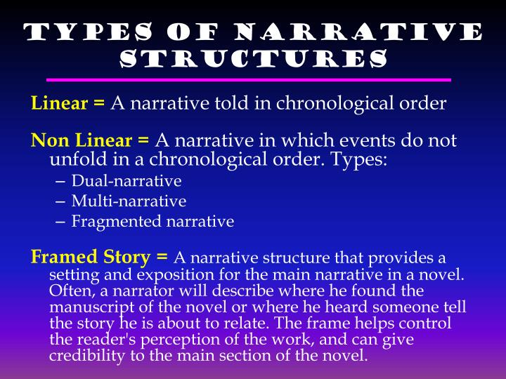 Types of Narrative Structures