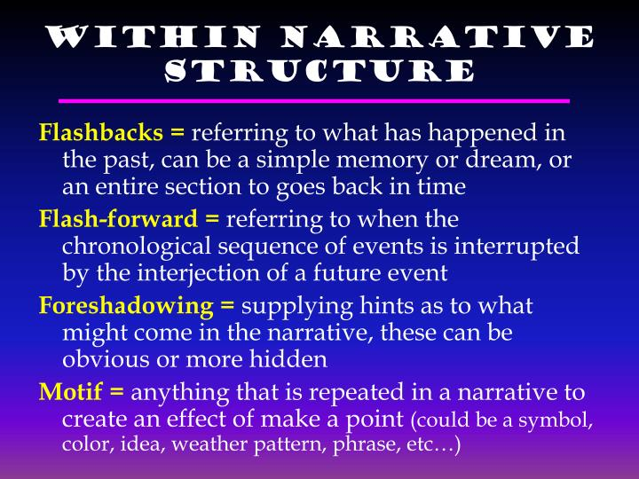 Within Narrative Structure