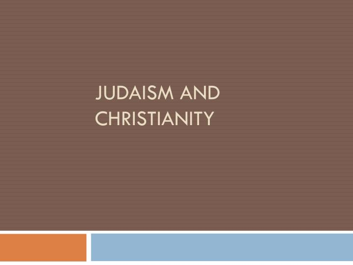 judaism and christianity n.