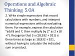 operations and algebraic thinking 5 oa