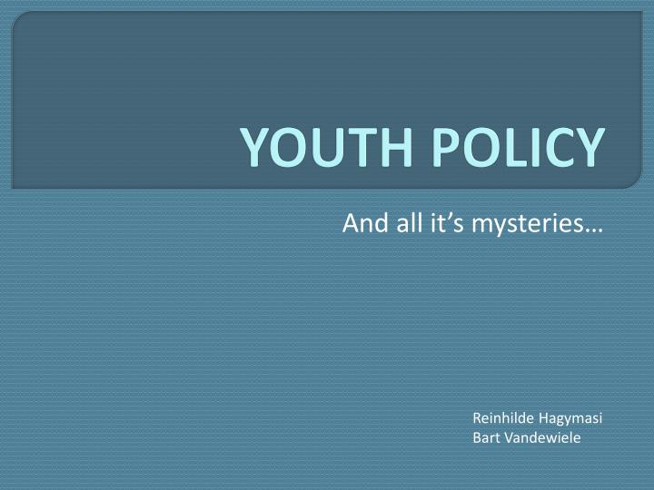 youth policy n.