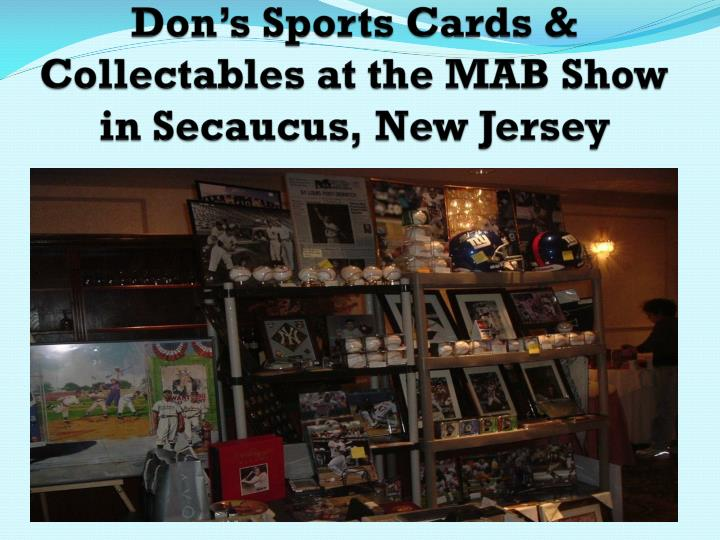 don s sports cards collectables at the mab show in secaucus new jersey n.