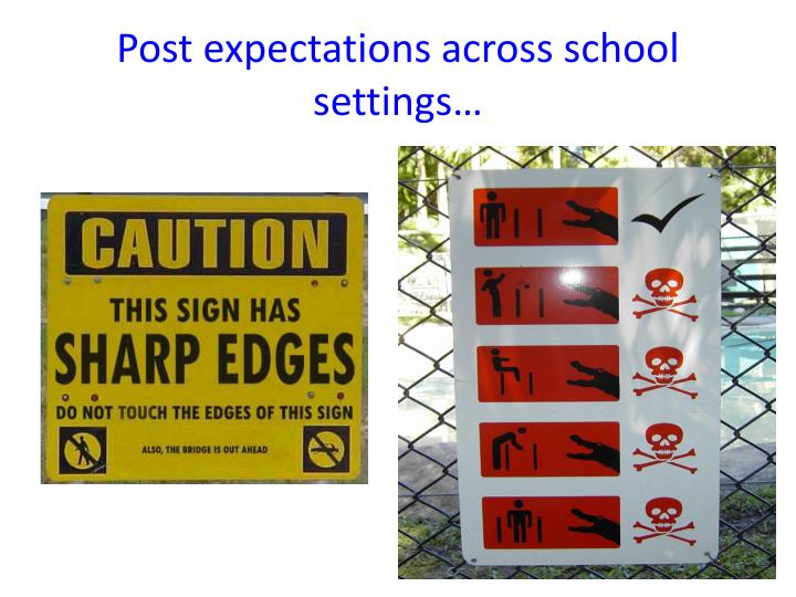 Post expectations across school settings…