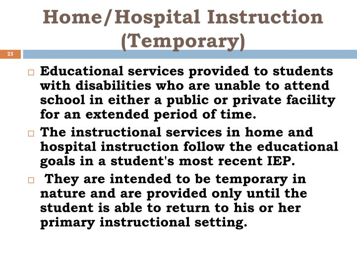 Ppt Special Education Continuum Of Services Powerpoint