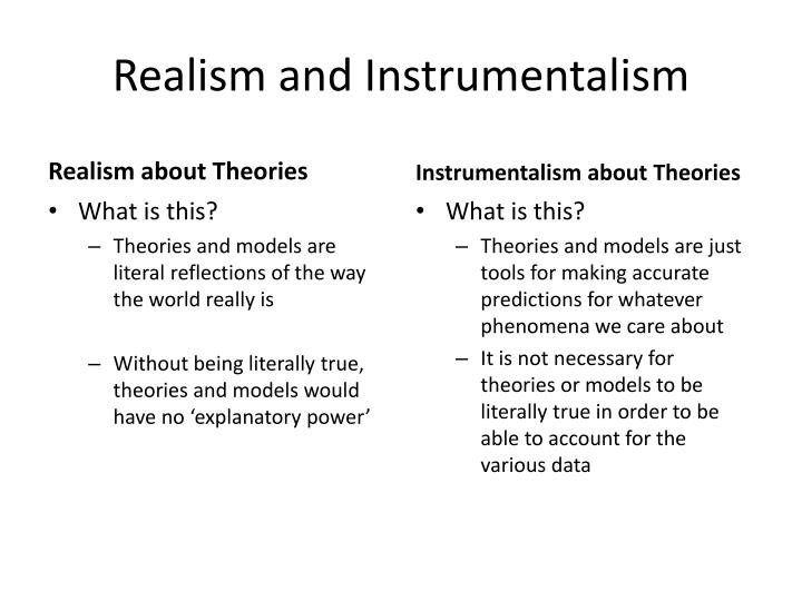 Realism and Instrumentalism