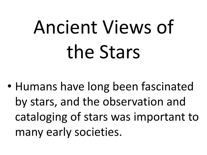 ancient views of the stars n.