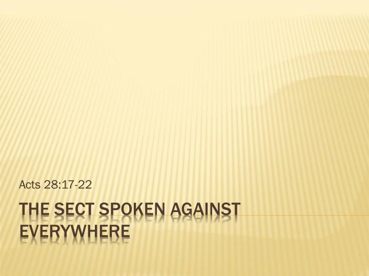 acts 28 17 22 n.