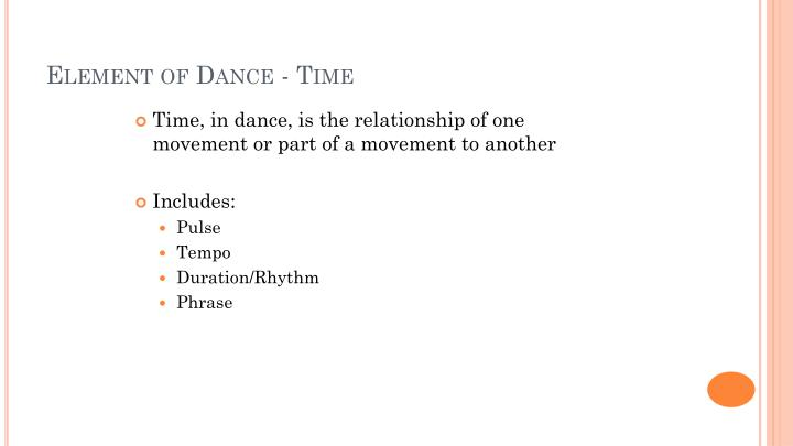 Element of Dance - Time
