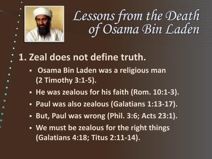 lessons from the death of osama bin laden n.