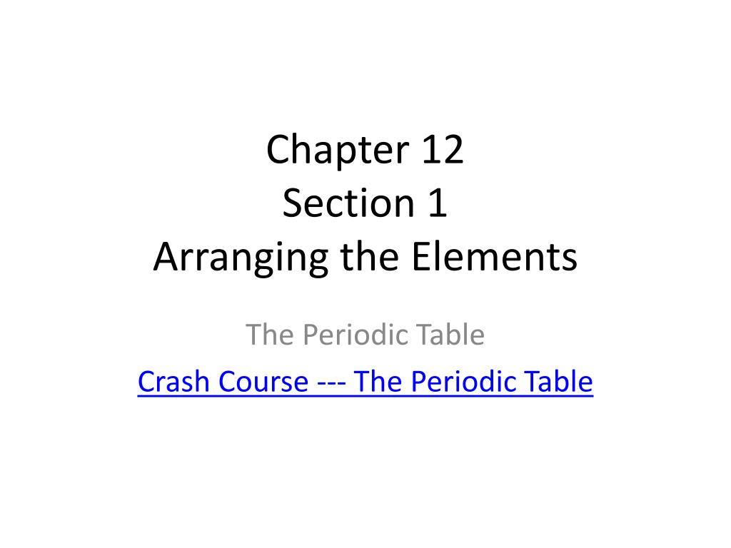 Ppt Chapter 12 Section 1 Arranging The Elements Powerpoint