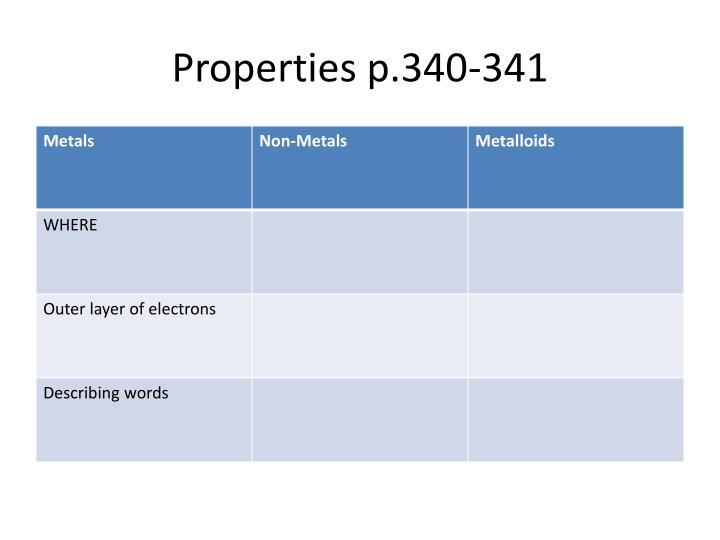 Properties p.340-341
