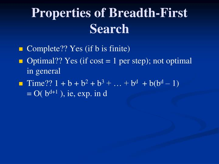 Properties of Breadth-First Search