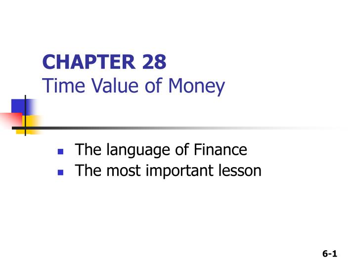 chapter 28 time value of money n.