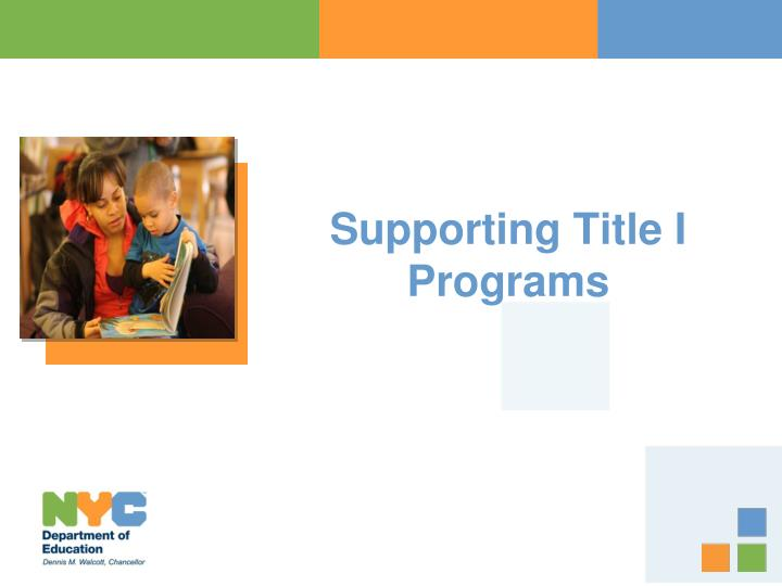 supporting title i programs n.