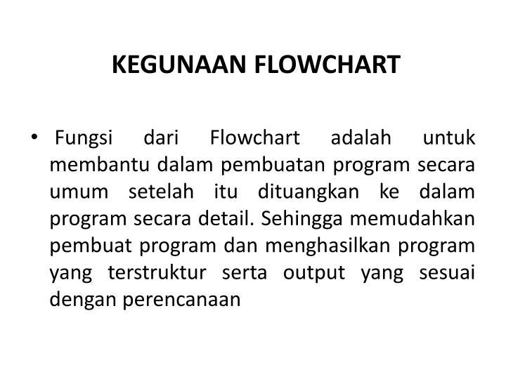 KEGUNAAN FLOWCHART