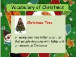 vocabulary of christmas