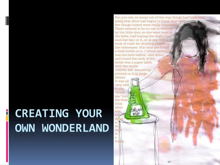 creating your own wonderland n.