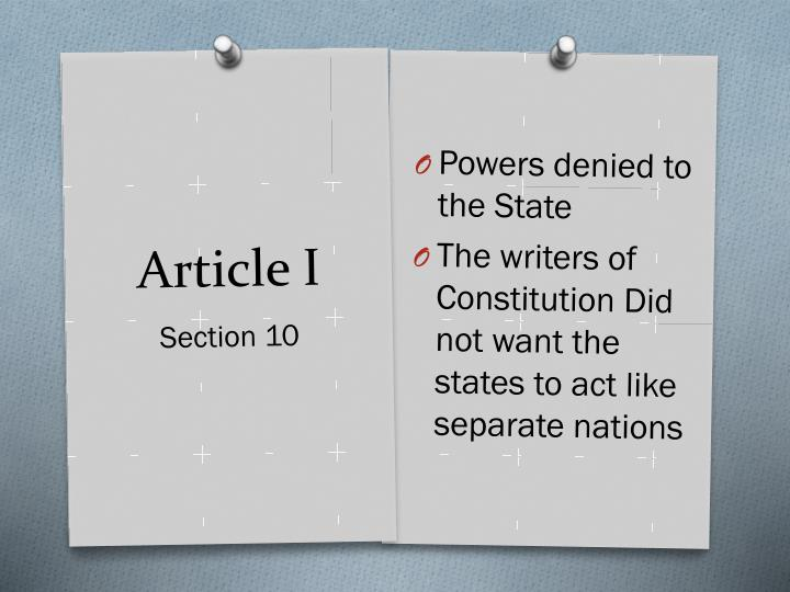 Powers denied to the State