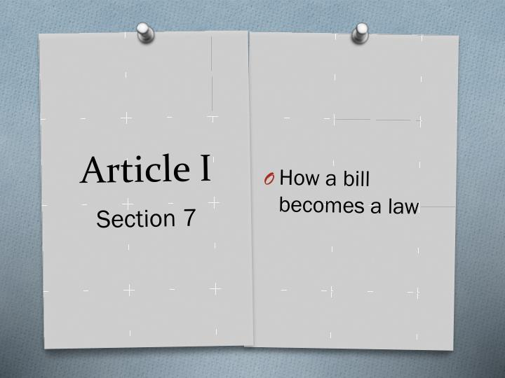 How a bill becomes a law