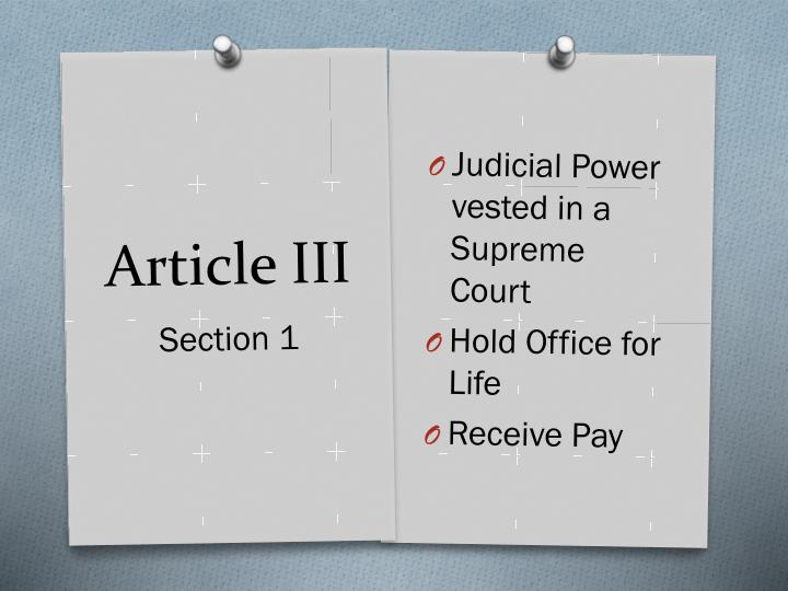 Judicial Power vested in a Supreme Court