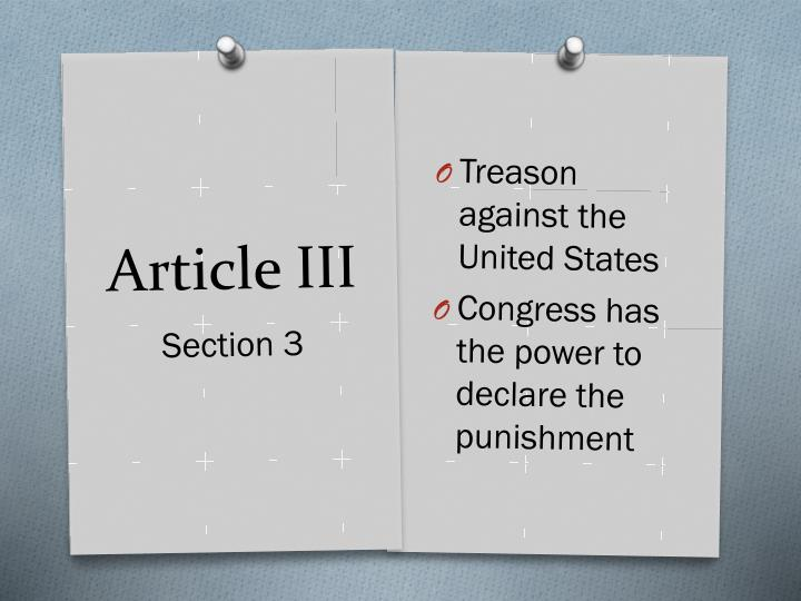Treason against the United States