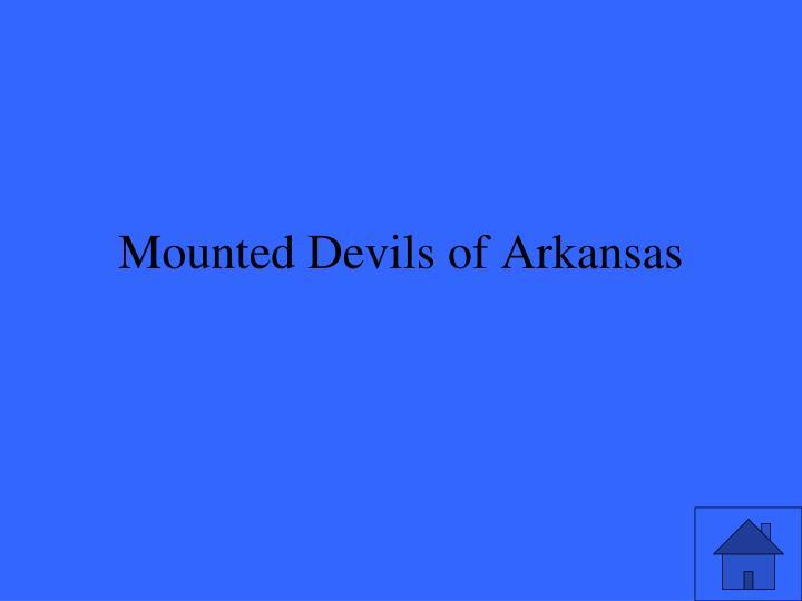 Mounted Devils of Arkansas