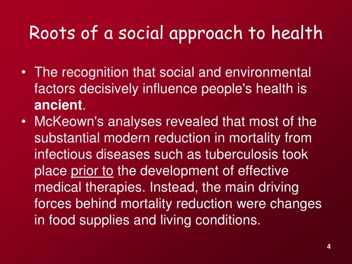social approach to health